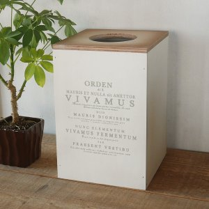 ごみ箱/ゴミ箱/木製 蓋つきインテリアダストボックス大 /インテリア/BREAの写真