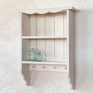 飾り棚 薄型 ラック シェルフ 木製 壁掛けカントリー棚 ディスプレイ/BREA|brea-interior