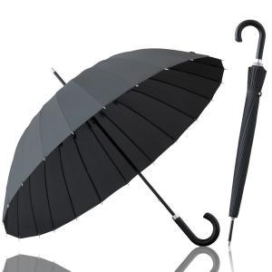 ottostyle.jp 長傘 雨傘 24本骨傘 高強度グラスファイバー 【クールグレー】 テフロン加工 水をはじく 超撥水 強風でも折れにくい 梅雨 ゲリラ豪雨 夕立|break19