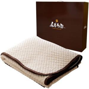送料無料! 麻を使った天然素材の肌触り 快適敷きパッド 麻夢物語 160×205cm クイーン 水洗い 通気性 敷きシーツの商品画像|ナビ
