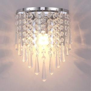 Injuicy 照明器具北欧クリスタル 壁掛けライト 水晶 ブラケットライト インテリアウォールランプ 金属 壁掛け照明 間接照明 リビングルーム/ダイニング照明 寝室|break19