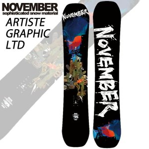 19-20 NOVEMBER/ノベンバー ARTISTE GRAPHIC LTD アーティスト メンズ レディース 板 国産 スノーボード 予約商品 2020|breakout