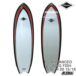 サーフボード ショート アドバンス / ADVANCED WING FISH 6'2 サーフィン 営業所止め 送料無料|breakout