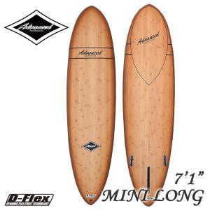 サーフボード ミニロング サーフィン アドバンス ADVANCED 7'1 EPSバンブー A05 営業所止め 送料無料|BREAKOUT