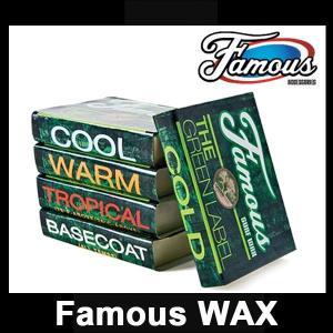 即出荷 FamousWax / フェイマスワックス ザ グリンラベル サーフワックス サーフィン サーフボード メール便対応|breakout