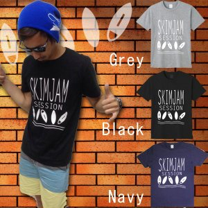 スキムボードTシャツ SKIMJAM SESSION メンズ レディース 半袖 メール便対応|breakout