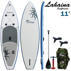 SUP サップ インフレータブルパドルボード ラハイナフィッシング / LAHAINA NEW FISHING 11' 釣り用SUP ホワイト/ブルー|breakout