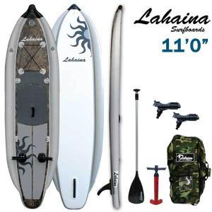 SUP サップ インフレータブルパドルボード / LAHAINA NEW FISHING2 11' 釣り用SUP カモ ホワイト スタンドアップパドルボード|breakout
