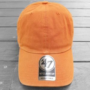 海外限定 '47 ブランド ブランク クリーン アップ キャップ 無地 ビターオレンジ / '47 BRAND BLANK CLEAN UP CAP [BITTER ORANGE]|breaks-general-store