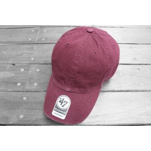 海外限定 '47 ブランド ブランク クリーン アップ キャップ 無地 バーガンディー / '47 BRAND BLANK CLEAN UP CAP [BURGUNDY]|breaks-general-store