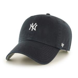 '47 ブランド ニューヨーク ヤンキース ミニ ロゴ クリーン アップ キャップ ブラック 帽子 / '47 BRAND NEW YORK YANKEES MINI LOGO CLEAN UP CAP [BLACK]|breaks-general-store