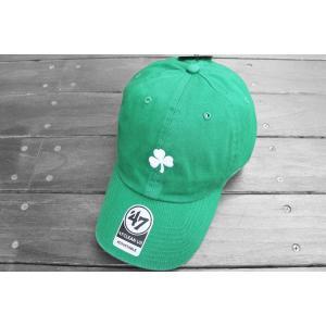 '47 ブランド セントパトリックデー クローバー ロゴ クリーン アップ キャップ 帽子 / '47 BRAND MLB BOSTON RED SOX LOGO CLEAN UP CAP|breaks-general-store