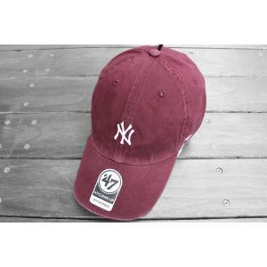 '47 ブランド ニューヨーク ヤンキース ミニロゴ クリーンアップ キャップ バーガンディー 帽子 / '47 BRAND NEW YORK YANKEES MINI LOGO CLEAN UP CAP BURGUNDY|breaks-general-store