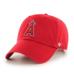 '47 ブランド ロサンゼルス エンジェルス クリーン アップ キャップ レッド / '47 BRAND LOS ANGELES ANGELS CLEAN UP CAP [RED] breaks-general-store