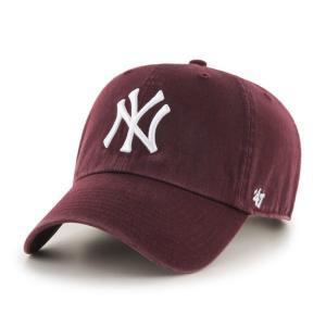 '47 ブランド ニューヨーク ヤンキース クリーン アップ キャップ マルーン バーガンディ / '47 BRAND NEW YORK YANKEES CLEAN UP CAP [DARK MAROON] breaks-general-store