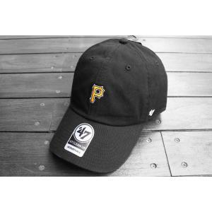 '47 ブランド MLB ピッツバーグ パイレーツ ミニ ロゴ クリーン アップ キャップ 帽子 / '47 BRAND MLB PITTSBURGH PIRATES MINI LOGO CLEAN UP CAP|breaks-general-store
