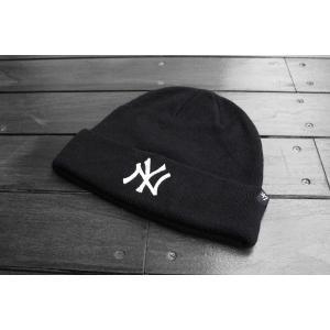 '47ブランド ニューヨーク ヤンキース カフ ニット ビーニー ニット帽 ニットキャップ ブラック / '47 BRAND MLB NEW YORK YANKEES CUFF KNIT BEANIE【BLACK】|breaks-general-store