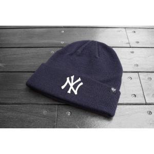 '47ブランド ニューヨーク ヤンキース カフ ニット ビーニー ニット帽 ニットキャップ ネイビー / '47 BRAND MLB NEW YORK YANKEES CUFF KNIT BEANIE【NAVY】|breaks-general-store