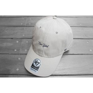 '47 ブランド ニューヨーク ヤンキース スクリプト ロゴ クリーン アップ キャップ ベージュ / '47 BRAND NEW YORK YANKEES SCRIPT LOGO CLEAN UP CAP [BEIGE]|breaks-general-store