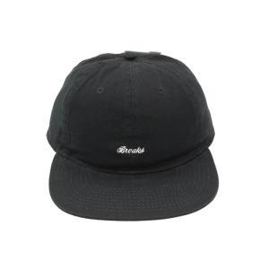 ブレイクス スクリプト ロゴ 6 パネル キャップ ブラック / BREAKS SCRIPT LOGO 6 PANEL CAP [BLACK]|breaks-general-store