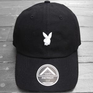プレイボーイ メタル ピン キャップ ブラック 帽子 / PLAYBOY METAL PIN CAP [BLACK] breaks-general-store