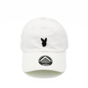 プレイボーイ メタル ピン キャップ ホワイト 帽子 / PLAYBOY METAL PIN CAP [WHITE]|breaks-general-store