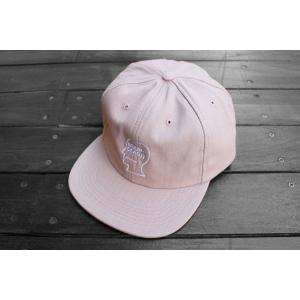 ブレインデッド ヘリンボーン ロゴ キャップ 帽子 ピンク / BRAIN DEAD HERRINGBONE LOGO CAP|breaks-general-store