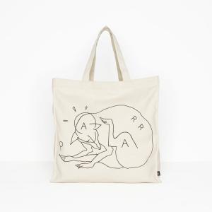 バイ パラ トート バッグ スクラッチ ドッグ ナチュラル 鞄 / BY PARRA TOTE BAG SCRATCH DOG [NATURAL]|breaks-general-store