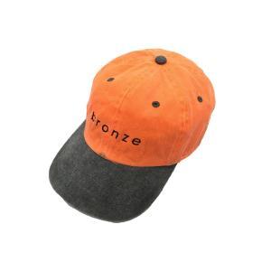 ブロンズ 56K ウォッシュド ツートーン ストラップ バック キャップ オレンジ グレー 帽子 / BRONZE 56K WASHED TWO TONE STRAPBACK CAP|breaks-general-store