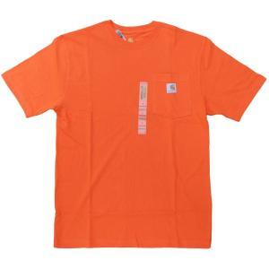 US カーハート ワークウェア ポケット Tシャツ オレンジ ポケT / CARHARTT WORKWEAR POCKET TEE [ORANGE]|breaks-general-store