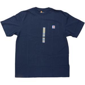 US カーハート ワークウェア ポケット Tシャツ ネイビー ポケT / CARHARTT WORKWEAR POCKET TEE [NAVY]|breaks-general-store