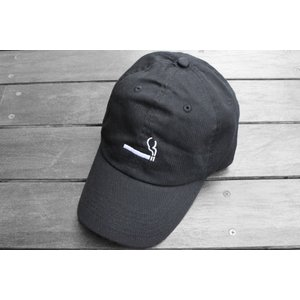 シガレット ロゴ キャップ ブラック 帽子 / CIGARETTE LOGO CAP [BLACK]|breaks-general-store