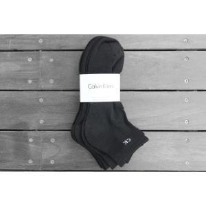 カルバンクライン 6パック ショート リブ ソックス 靴下 ブラック / CK CALVIN KLEIN 6P SHORT RIB SOCKS [BLACK]|breaks-general-store