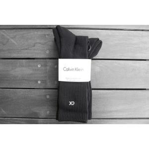 カルバンクライン 4パック リブ ソックス 靴下 ブラック / CK CALVIN KLEIN 4P RIB SOCKS [BLACK]|breaks-general-store