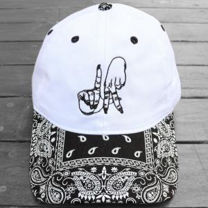 エステヴァン・オリオール LA ハンド バンダナ ストラップ バック キャップ 帽子 / ESTEVAN ORIOL LA HAND BANDANA STRAPBACK CAP [WHITE/BLACK]|breaks-general-store