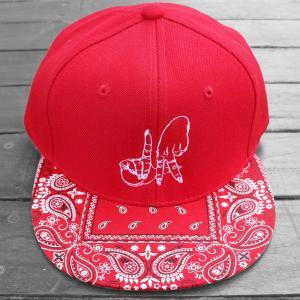 エステヴァン・オリオール LA ハンド バンダナ スナップバック キャップ 帽子 / ESTEVAN ORIOL LA HAND BANDANA SNAPBACK CAP [RED] breaks-general-store