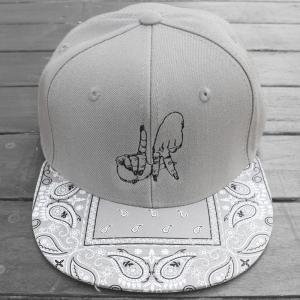 エステヴァン・オリオール LA ハンド バンダナ スナップバック キャップ 帽子 グレー / ESTEVAN ORIOL LA HAND BANDANA SNAPBACK CAP [GREY] breaks-general-store