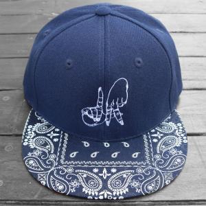 エステヴァン・オリオール LA ハンド バンダナ スナップバック キャップ 帽子 ネイビー / ESTEVAN ORIOL LA HAND BANDANA SNAPBACK CAP [NAVY] breaks-general-store