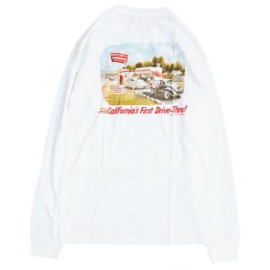 インアンドアウト バーガー カルフォルニア ファースト ロングスリーブ Tシャツ ロンT ホワイト / IN-N-OUT BURGER CA FIRST L/S TEE [WHITE]|breaks-general-store