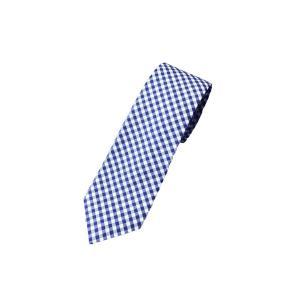 ジェイクルー ギンガム チェック ネクタイ ブルー / J.CREW GINGHAM CHECK TIE|breaks-general-store