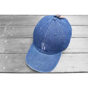 クレイジーボーイ デニム ベースボール キャップ 帽子 シンプソンズ バート / KRAZY BOY DENIM BASEBALL CAP SIMPSONS BART DAD HAT|breaks-general-store