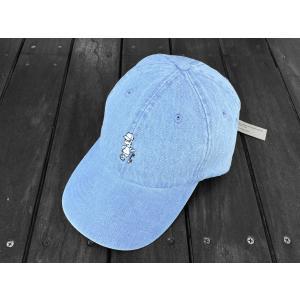 クレイジーボーイ ウォッシュ デニム ベースボール キャップ 帽子 シンプソンズ バート / KRAZY BOY WASH DENIM BASEBALL CAP SIMPSONS BART DAD HAT|breaks-general-store