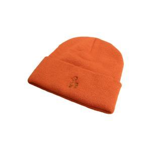 クレイジーボーイ アクリル ビーニー ニット帽 ニットキャップ 帽子 シンプソンズ バート / KRAZY BOY ACRYL BEANIE SIMPSONS BART【ORANGE/OLIVE】|breaks-general-store
