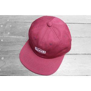 レイバー クレスト ロゴ 6パネル キャップ 帽子 スケートショップ バーガンディー / LABOR CREST LOGO 6 PANEL CAP [BURGUNDY]|breaks-general-store