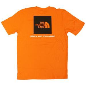 日本未発売 ザ ノースフェイス レッド ボックス ショートスリーブ  Tシャツ ペルシアン オレンジ / THE NORTH FACE RED BOX S/S TEE [PERSIAN ORANG]|breaks-general-store