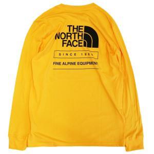 日本未発売 ザ ノースフェイス スローバック ロングスリーブ  Tシャツ イエロー ロンT / THE NORTH FACE THROWBACK L/S TEE [TNF YELLOW]|breaks-general-store
