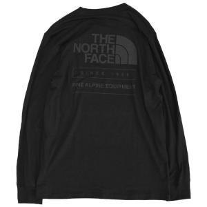 日本未発売 ザ ノースフェイス スローバック ロングスリーブ  Tシャツ ブラック ロンT / THE NORTH FACE THROWBACK L/S TEE [TNF BLACK]|breaks-general-store