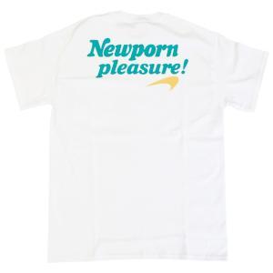 ニューポルノ プレジャー ショート スリーブ ポケット Tシャツ ホワイト グリーン / NEWPORN PLEASURE S/S POCKET TEE [WHITE/GREEN]|breaks-general-store