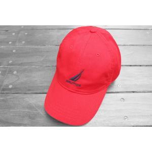 ノーティカ ロゴ  ベースボール キャップ レッド / NAUTICA LOGO BASEBALL CAP [RED]|breaks-general-store