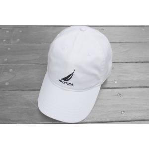 ノーティカ ロゴ  ベースボール キャップ ホワイト / NAUTICA LOGO BASEBALL CAP [WHITE]|breaks-general-store